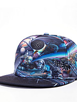 Hip Hop Women Men Galaxy Planet Abstract Print Dance Caps Adjustable Patchwork Baseball Cap