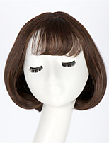 hottest lady short pear flower head fluffy wigs with neat bangs beautiful women light brown Bob Style Short curly