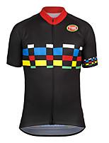 Deportes Bicicleta/Ciclismo Tops Hombres Mangas cortas Transpirable / Cremallera delantera / Listo para vestir / Tejido Ultra Ligero