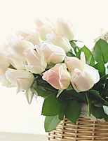 10 Branch Real Touch Top Grade Moisturize Rose Artificial Flower