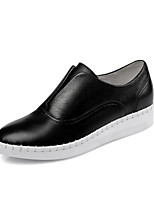 Women's Shoes Leather Fall / Winter Flats Boots Athletic / Casual Flat Heel Others Black / White / Gray