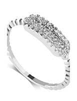 Ring Fashion Wedding / Party / Daily / Casual Jewelry Alloy / Zircon Women Band Rings 1pc,6 / 7 / 8 / 9 Silver