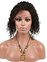 In Stock 8-30inch Kinky Curly With Baby Hair Small Curl Full Lace Wigs 100% Mongolian Virgin Human Hair deep curly Wig