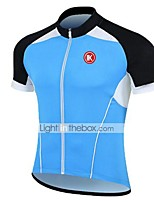 KEIYUEM® Maillot de Ciclismo Unisex Mangas cortasTranspirable / Secado rápido / Resistente a los UV / Cremallera delantera / Antiestático