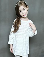 Girl's Casual/Daily Solid Dress / Blouse,Cotton Spring / Fall White