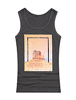 Summer Men's Casual Formal Loose comfortable Printing Sport Sleeveless Tank Tops