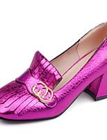Women's Heels Spring / Summer / Fall / Winter Heels / Square Toe / Closed Toe  / Casual Chunky HeelRivet / Buckle /
