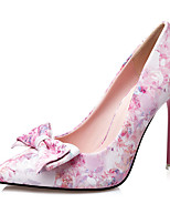 Women's Heels Summer Heels PU Casual Stiletto Heel Bowknot Blue / Pink Others
