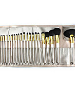 24 Makeup Brushes Set Nylon Portable Wood Face Others