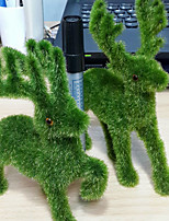 1Pc/Set Home Decoration  Artificial Plants Potted Simulation Flowers Decorated Flocking Flower
