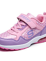 Girl's Athletic Shoes Spring / Fall Comfort / Round Toe Tulle / Fabric Casual Flat Heel Others Black / Pink / Red Sneaker