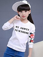 Girl's Casual/Daily Print Tee,Cotton / Rayon Winter / Spring / Fall Pink / Red / White