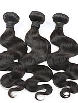 3 Pièces Ondulation naturelle Tissages de cheveux humains Cheveux Brésiliens Tissages de cheveux humains Ondulation naturelle