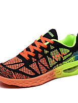 Men's Shoes Athletic Fabric Fashion Sneakers Orange / Blue / White