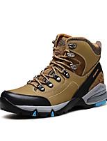 Herren-Sneaker-Outddor-Leder-Flacher Absatz-Komfort / Rundeschuh-Blau / Braun / Grau / Khaki