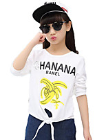 Girl's Casual/Daily Print Tee / Blouse,Cotton / Others Spring / Fall White