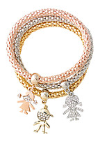 Charm Bracelets 1set,Fashionable Others Golden / Silver / Yellow Gold Alloy Jewelry Gifts
