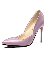Women's Heels Summer Heels PU Office & Career Stiletto Heel Others Black / Pink / Red / White Others