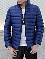 Men's Regular Padded Coat,Nylon Solid Long Sleeve