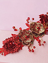Women's Lace Headpiece-Wedding Headbands 1 Piece Red / White