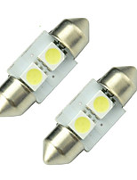 10pcs 5050 2SMD 31MM Lampada Torpedo Festoon Interior Lights Canbus Error Free Dome Light With Trackin(DC12V)