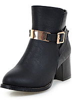 Women's Boots Spring / Fall / Winter Fashion Boots / Combat Boots Leatherette / Casual Chunky Heel Fashion boots
