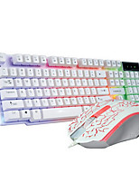 1200Dpi USB Wireless Bluetooth Game Mechanical Keyboard & Wired Mouse Suit