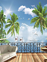 JAMMORY Wallpaper For Home Wall Covering Canvas Adhesive required Mural Belvedere Beach3XL(14'7''*9'2'')