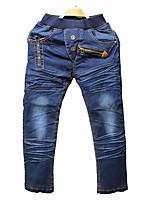 Boy's Cotton Spring/Autumn Fashion Solid Color Denim Jeans