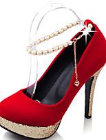Women's Heels Spring / Summer / Fall Heels / Round Toe Leatherette Outdoor  / Casual Stiletto Heel Imitation