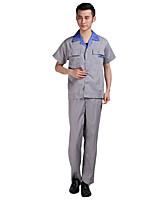 страхование труда Комбинезон летний платьице затекания хлопчатобумажный комбинезон костюм (продажа риса серый костюм синий воротник)