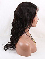 100% Natural Color Loose Wave Brazilian Virgin Hair Full Lace Human Hair Wig 20