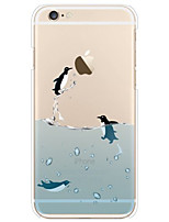 Para Funda iPhone 6 / Funda iPhone 6 Plus Transparente / Diseños Funda Cubierta Trasera Funda Animal Suave TPUiPhone 7 Plus / iPhone 7 /