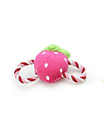 Cat / Dog Toy Pet Toys Plush Toy / Squeaking Toy Squeak / Squeaking / Durable Plush Red / Pink