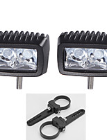 10W CREE 2X LED Work Light Bar Driving Truck Parts Lamp + 2