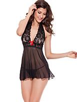 Para Mujer Lencería de Encaje Ropa de dormir,Sexy Jacquard-Medio Espándex Rosa / Rojo / Negro