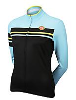 Esportivo Ciclismo Blusas Mulheres Moto Respirável / Zíper Frontal / Vestível / Compressão / Tecido Ultra Leve Manga CompridaLYCRA® /