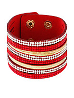 Tennis Bracelets 1pc,Fashionable Circle Black / White / Red / Blue / Brown / Gray Alloy Jewelry Gifts