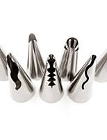 7 pcs Korean Puff Russian Skirt Shape Stainless Steel Icing Piping Nozzles Pastry Decorating Tips Cupcake Decorator