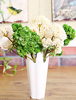 Hi-Q 1Pc Decorative  Real Touch Green Plants Wedding Home Table Decoration Artificial Flowers