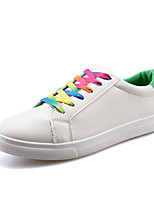 Men's Shoes PU Outdoor / Casual Sneakers Outdoor / Casual Walking Flat Heel Others / Lace-up Black / White / Multi-color