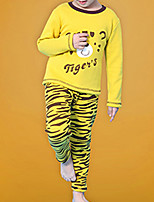 Boy's Casual/Daily Print Clothing Set / Sleepwear,Cotton Winter Pink / Red / Yellow / Gray