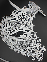 Signature Phantom Of The Opera Half Face Laser Cut  Mask Metal5002A2