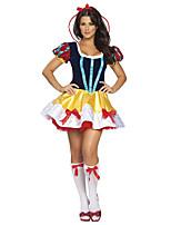 Costumes Déguisements de princesse Halloween / Noël / Carnaval Rouge / Jaune Vintage Térylène Robe / Chaussettes / Coiffure