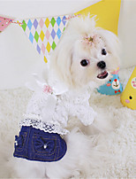 Dog Jeans Black / Blue Winter / Summer / Spring/Fall Bowknot / Jeans Casual/Daily Dog Clothes / Dog Clothing-Other