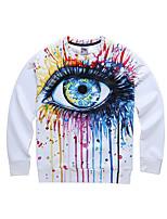 3D Hoodie Printing Hoodie Printing Colourful Eye Clothing Long Sleeve Cosplay Costumes Geeky Clothing Round Halloween