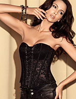 Lace Stitching Color Printing Obscurus Zip Slim Chest Up Spandex Overbust Corset