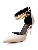 Women's Heels Spring / Summer / Fall Heels / Pointed Toe PU Dress Cone Heel Zipper Black / Gray / Beige Others