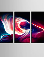 E-HOME® Stretched Canvas Art Brilliant Color Light Decoration Painting  Set Of 3