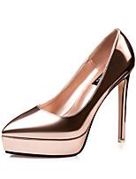 Calçados Femininos-Saltos-Saltos / Bico Fino / Bico Fechado-Salto Agulha-Azul / Vermelho / Prateado / Cinza / Dourado / Champagne / Camelo